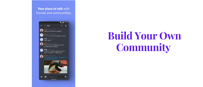 Discord app Build your own community